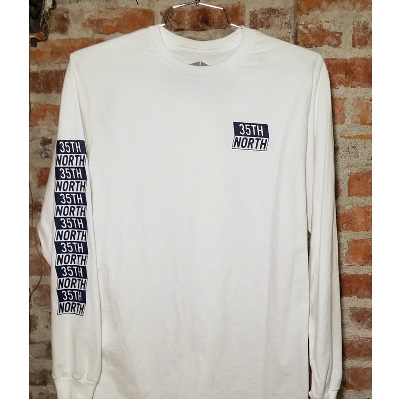 35th North Frosty Long-Sleeve T-Shirt - White/Navy
