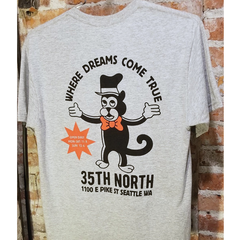 35th North - Dreams Tee - Heather Grey
