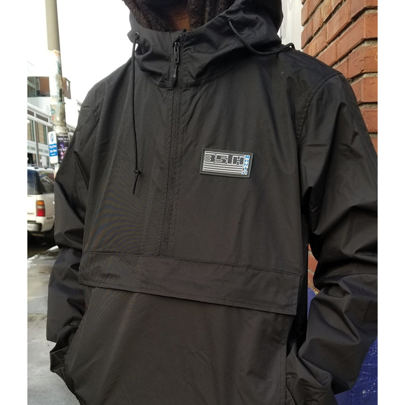 35th North 92 Pullover Hooded Anorak Jacket- Black