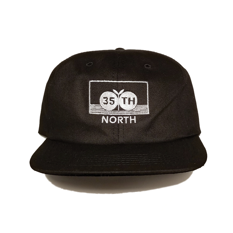 35th North Apples Snapback Hat - Black