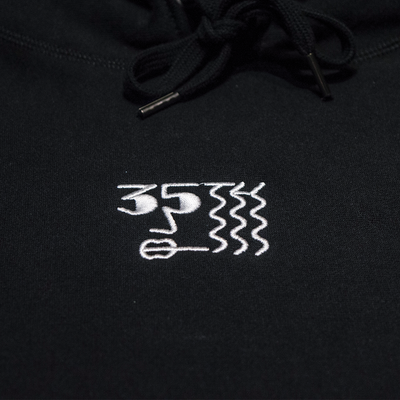 35th North Smoker Black Premium Hoodie