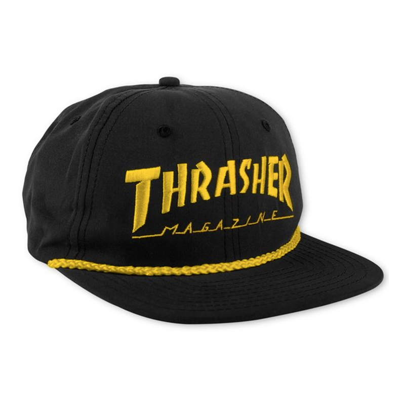 Thrasher Rope Snapback Black/Yellow