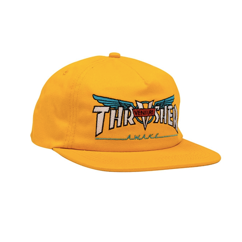 Thrasher Venture Collab Snapback Yellow