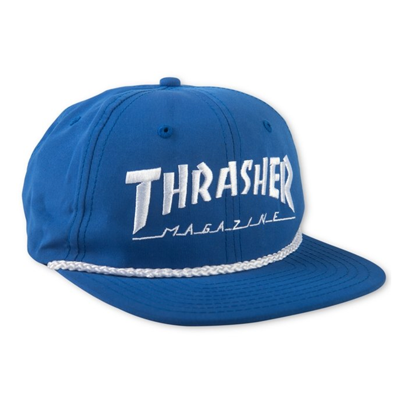 Thrasher Rope Snapback Royal Blue
