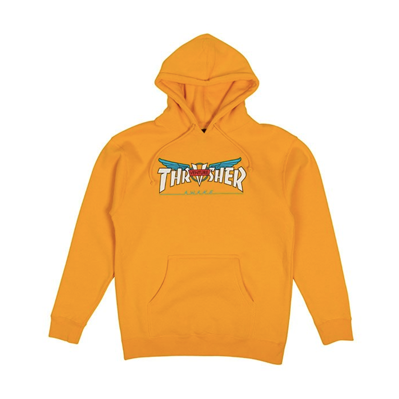 Thrasher Venture Collab Hoodie Yellow