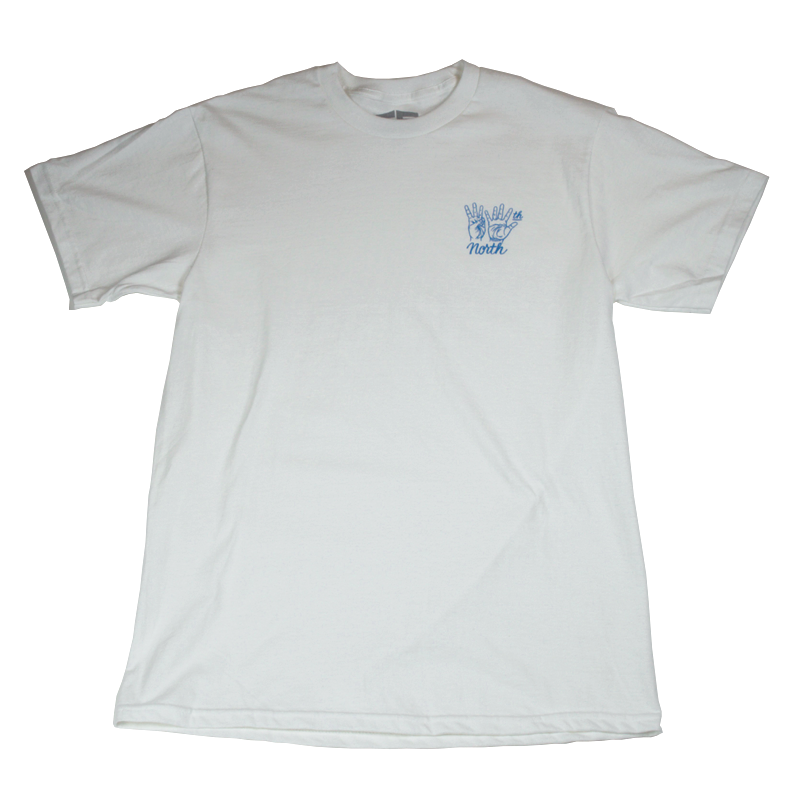 35th North Hand Signs T-Shirt - White / Royal Blue