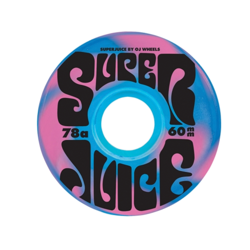 OJ Super Juice Wheels Blue Pink Swirl