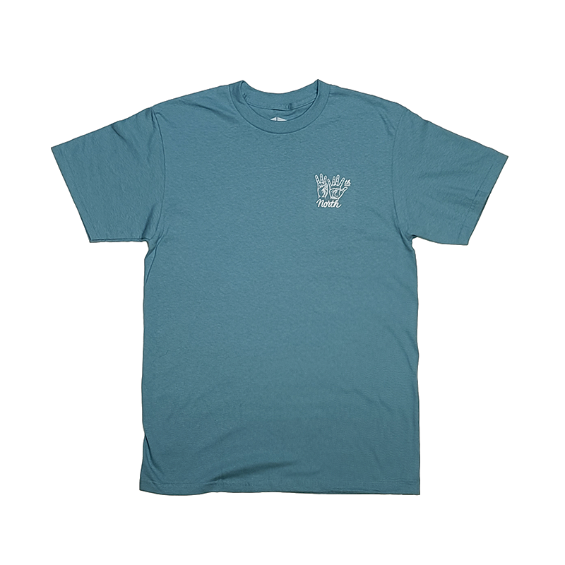 35th North Hand Signs T-Shirt - Celadon
