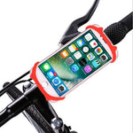 support smartphone moto rouge