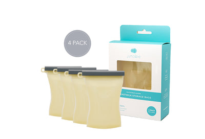 The Bundled 4-Pack Reusable Breastmilk Storage Bags-The Everly
