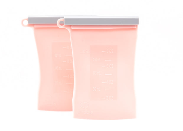 The Bundled 2-Pack Reusable Breastmilk Storage Bag-The Norah