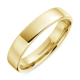 00000292 18ct Yellow Gold 6mm Bevelled Edge Wedding Ring, CGN-198