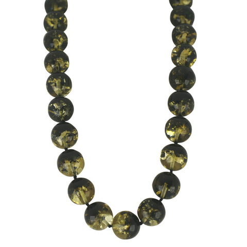 Amber Necklace Strung Round Beads