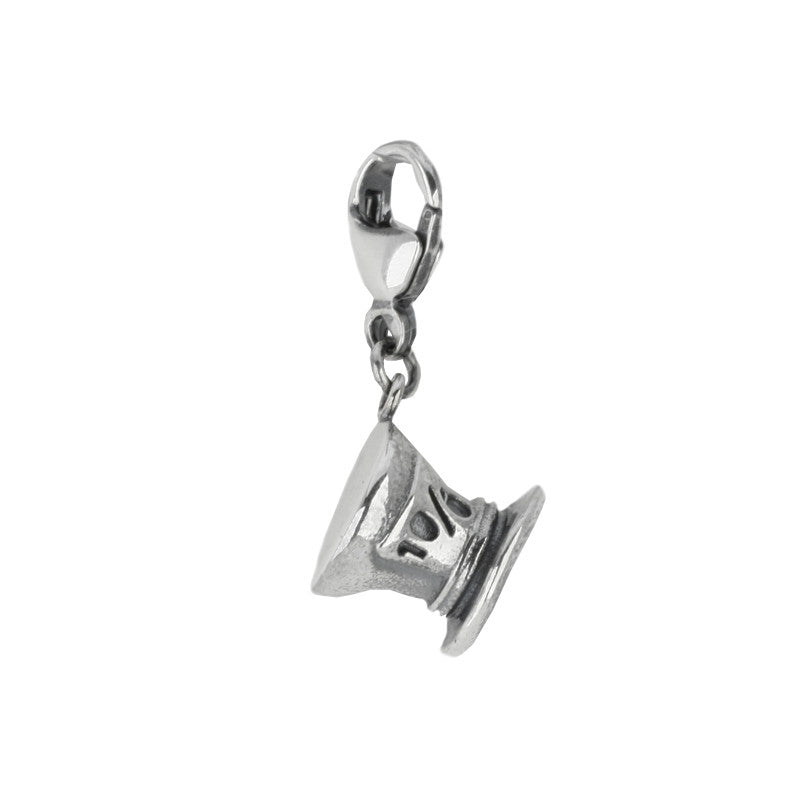 Alice In Wonderland Collection Charm Mad Hatter Silver