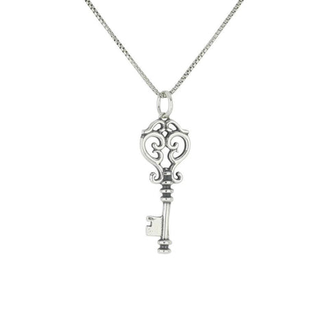 Alice In Wonderland Collection Pendant Small Key Silver