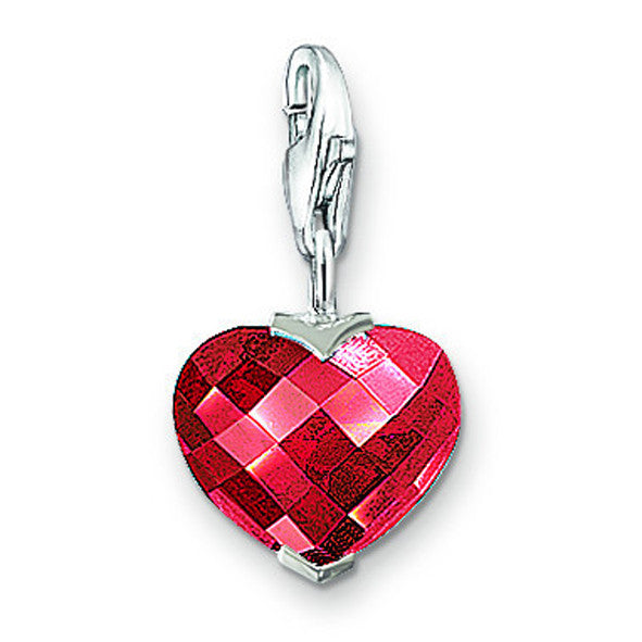 Thomas Sabo Charm  Red Garnet Heart