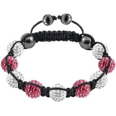 Tresor Paris Bracelet 10mm Pink And White Crystal S