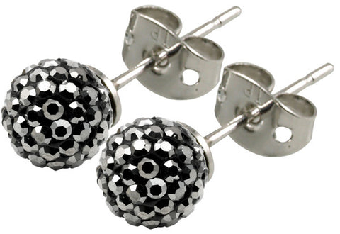 Tresor Paris Earrings 6mm Grey Crystal