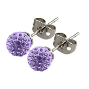 Tresor Paris Earrings 6mm Lilac Crystal