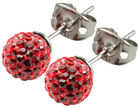 Tresor Paris Earrings 6mm Red Crystal