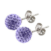 Tresor Paris Earrings 8mm Lilac Crystal