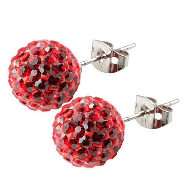 Tresor Paris Earrings 10mm Red Crystal