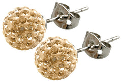 Tresor Paris Earrings 10mm Gold Crystal