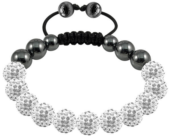 Tresor Paris Bracelet 10mm White Crystal S