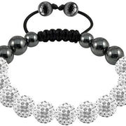 Tresor Paris Bracelet 10mm White Crystal 016480