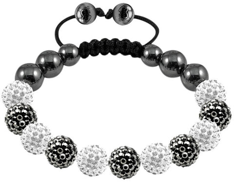 Tresor Paris Bracelet 10mm Grey And White Crystal S