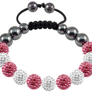 Tresor Paris Bracelet 10mm Pink White Crystal 016483