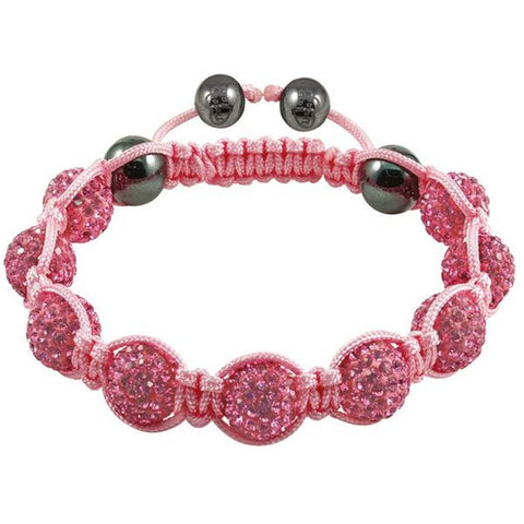 Tresor Paris Bracelet 10mm Pink Crystal S