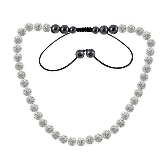 Tresor Paris Necklace 10mm White Crystal S