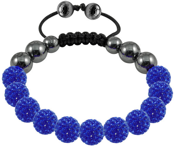 Tresor Paris Bracelet 10mm Blue Crystal S