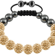 Tresor Paris Bracelet 10mm Gold Crystal 016841