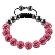 Tresor Paris Bracelet 10mm Pink Crystal 016845