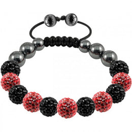 Tresor Paris Bracelet 10mm Red Black Crystal 017298