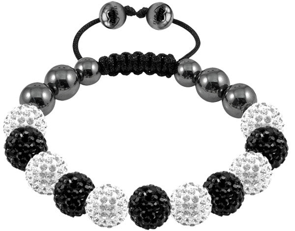 Tresor Paris Bracelet 10mm White Black Crystal S