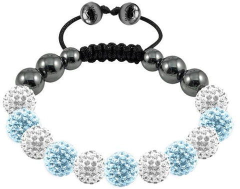 Tresor Paris Bracelet 10mm White Light Blue Crystal S