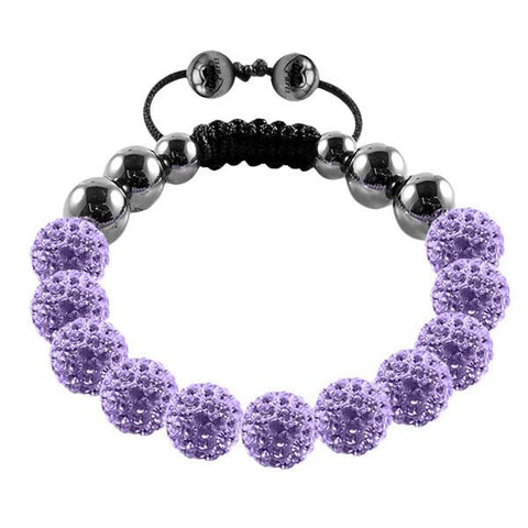 Tresor Paris Bracelet 10mm Lilac Crystal S