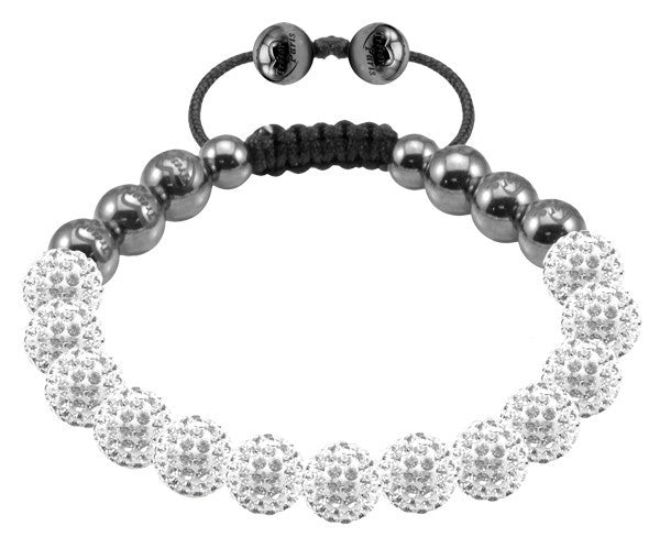 Tresor Paris Bracelet 8mm White Crystal S
