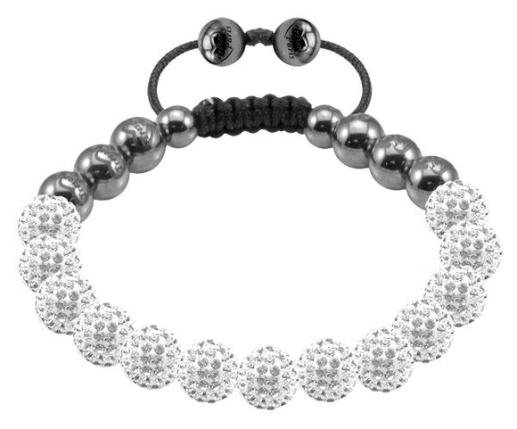 Tresor Paris Bracelet 8mm White Crystal 017727