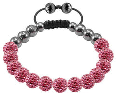 Tresor Paris Bracelet 8mm Pink Crystal S