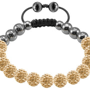 Tresor Paris Bracelet 8mm Gold Crystal 017731