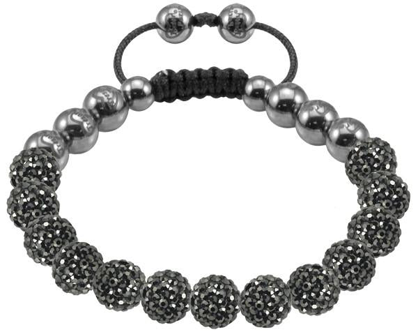 Tresor Paris Bracelet 8mm Grey Crystal S