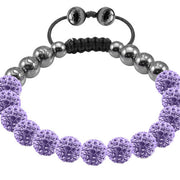Tresor Paris Bracelet 8mm Lilacl Crystal 017737