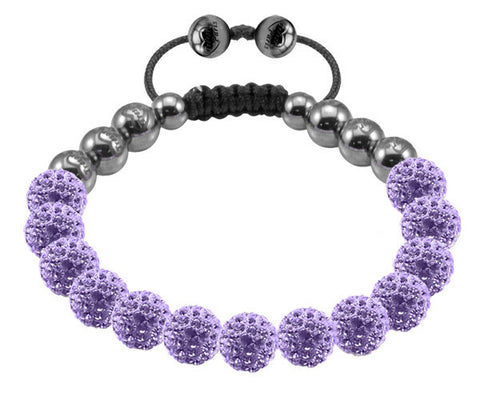 Tresor Paris Bracelet 8mm Lilacl Crystal S
