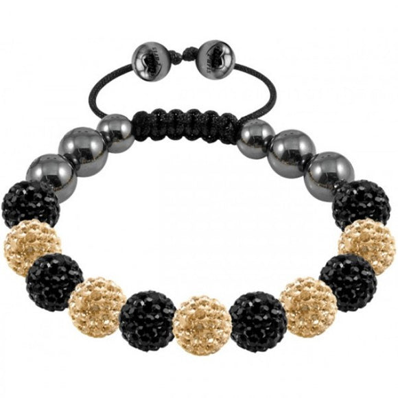 Tresor Paris Bracelet 10mm Black And Gold Crystal 017748