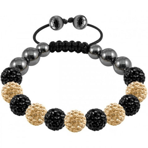 Tresor Paris Bracelet 10mm Black And Gold Crystal S