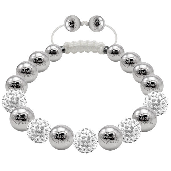 Tresor Paris Bracelet White Crystal 8mm